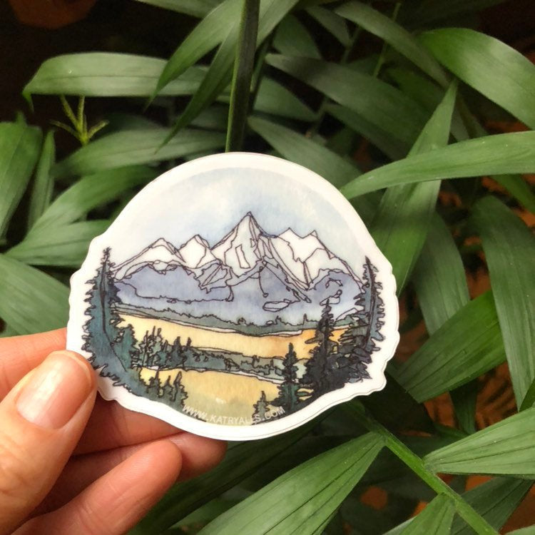 Grand Teton National Park Vinyl Sticker  3