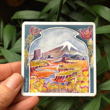 "Load image into Gallery viewer, Adventure vinyl sticker 3"" american outdoor nature watercolor national parks"