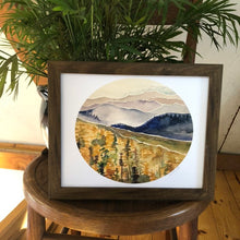 Load image into Gallery viewer, Blue Ridge Mountains North Carolina  watercolor painting National Park Print kat ryalls Roan Mountain