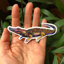 "Load image into Gallery viewer, Alligator Vinyl Sticker  4"" by Kat Ryalls louisiana new orleans watercolor"