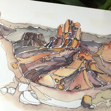Load image into Gallery viewer, Arches National Park Desert Watercolor Print Utah