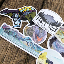 Load image into Gallery viewer, Blue Ridge Mountains Vinyl Sticker pack of 7 stickers | Linville Gorge Wilderness | National Parks | Road Trip Decals | National Park Sticke