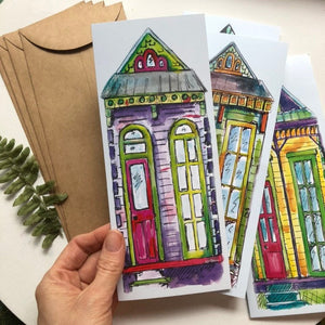 Set of 4 New Orleans blank cards  greeting cards house warming shotgun house | Set of Blank Cards NOLA variety pack | notecard | house cards