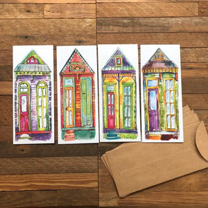 New Orleans Notecards | Blank Card Pack of 4 | House Cards | Greeting Card Assortment | Kat Ryalls