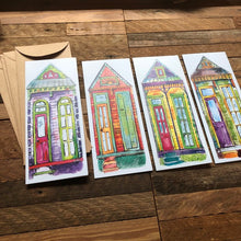 Load image into Gallery viewer, New Orleans Notecards | Blank Card Pack of 4 | House Cards | Greeting Card Assortment | Kat Ryalls
