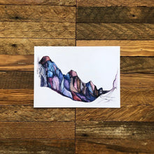 Load image into Gallery viewer, Zion National Park Utah Canyon Landscape watercolor fine art print  Kat Ryalls Home Decor Minimal Art