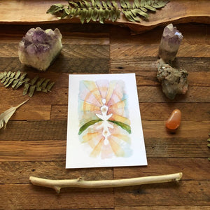 Oracle Card Prints from the Roots and Wings Oracle Deck, fine art print, watercolor art
