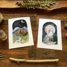 Load image into Gallery viewer, Oracle Card Prints from the Roots and Wings Oracle Deck, fine art print, watercolor art