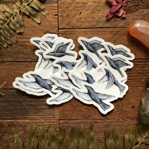 "Birds in Flight vinyl decal  3"" by Kat Ryalls  decal watercolor sticker 
