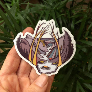 "Linville Gorge Wilderness Blueridge Mountain Vinyl Sticker  3"" decal by Kat Ryalls  watercolor"