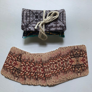 "MINI 3x2"" card bag Fun Pieced Batik Pouch
