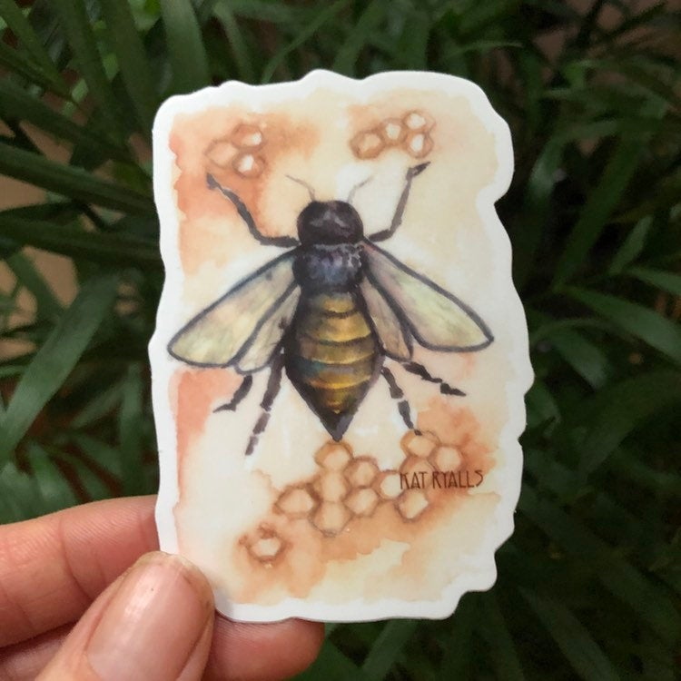Bee vinyl decal  3