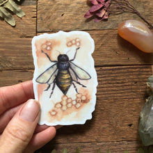 "Load image into Gallery viewer, Bee vinyl decal  3"" by Kat Ryalls  decal watercolor sticker 