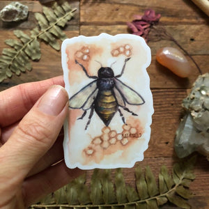 "Bee vinyl decal  3"" by Kat Ryalls  decal watercolor sticker 