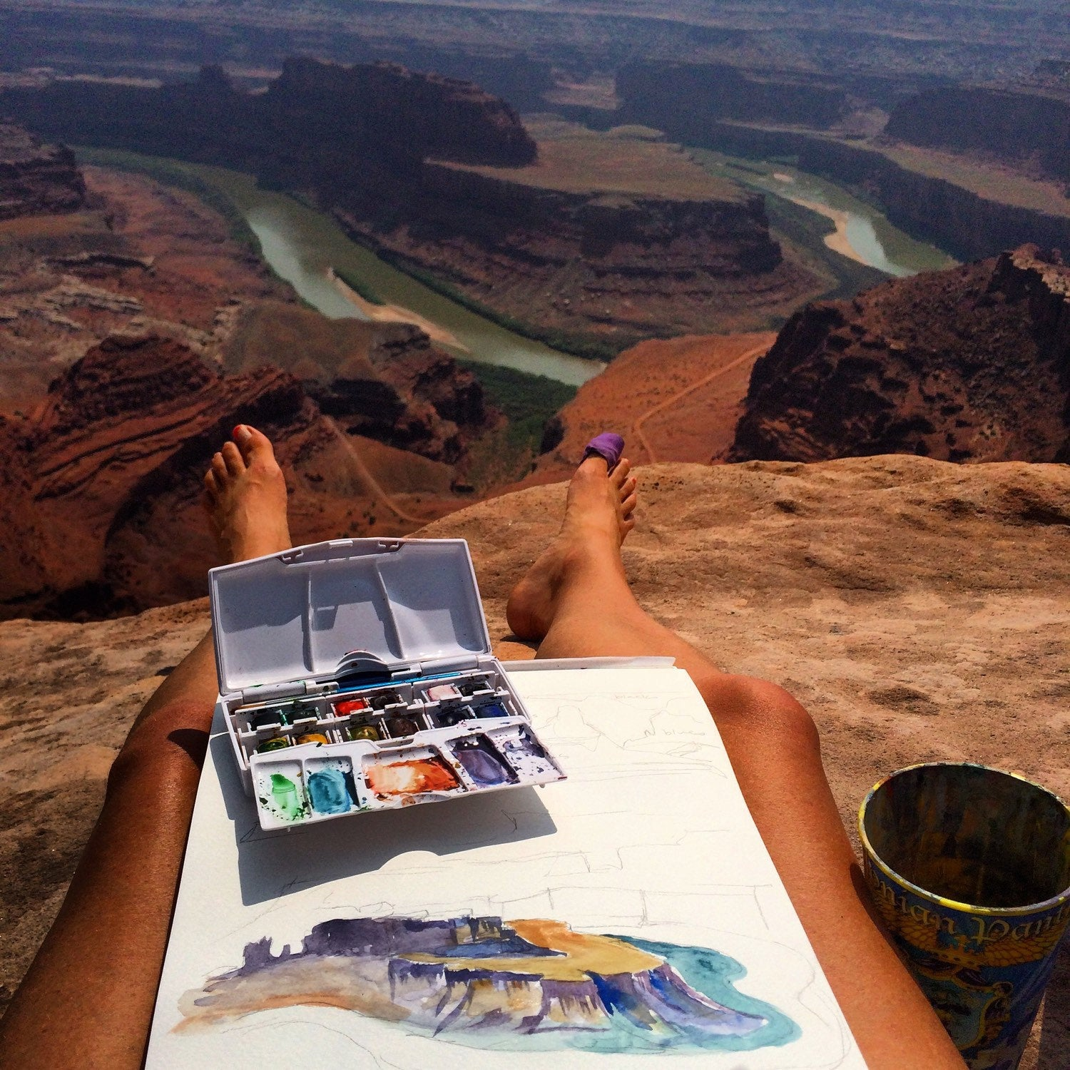 Grand Canyon National Park watercolor art print nature art Kat Ryalls