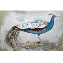 "Load image into Gallery viewer, Peacock Painting 11x14"" print on archival fine art paper signed and numbered kat ryalls modern art"
