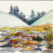 "Load image into Gallery viewer, Mount Rainier Washington watercolor National Park giclee 5x7"" kat ryalls 2015"