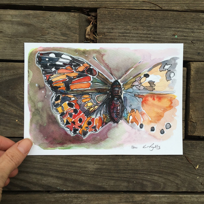 Butterfly Watercolor Fine Art Print Kat Ryalls watercolor painting Home Decor