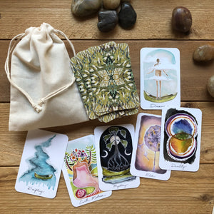 Slightly Imperfect Roots & Wings Oracle Deck mini and full size options