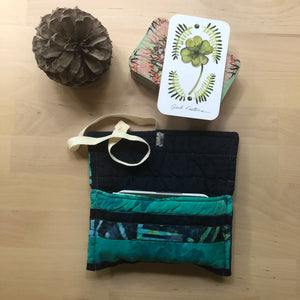 Oracle Card Bag | teal and navy
