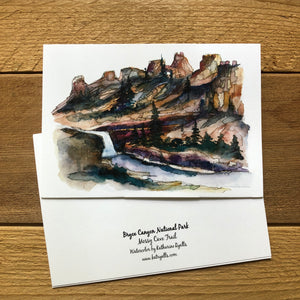 Utah National Parks set of 5 blank note cards