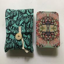 Load image into Gallery viewer, Oracle Card Bag | teal butterfly