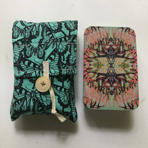 Oracle Card Bag | teal butterfly