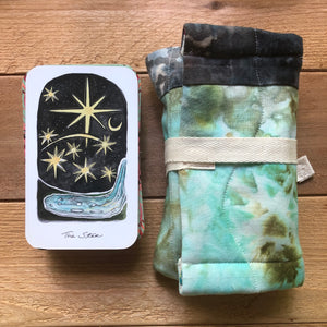 Star | Oracle Card Bag | hand dyed fabric
