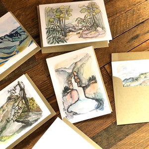Linville Gorge set of 4 blank note cards