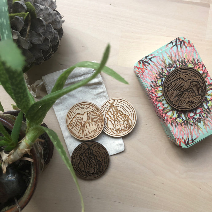 Wooden Roots + Wings Token, coin