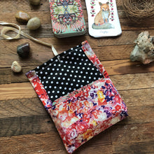 Load image into Gallery viewer, Oracle Card Bag | floral linen fox