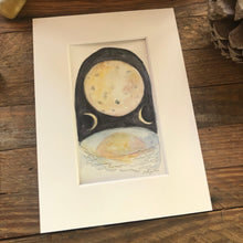 Load image into Gallery viewer, The Moon, original Roots and Wings watercolor painting