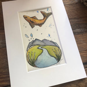 Unfamiliar Territory, original Roots and Wings watercolor painting