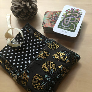 Oracle Card Bag | gold butterflies