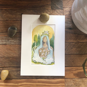 The Divine, original Roots and Wings watercolor painting