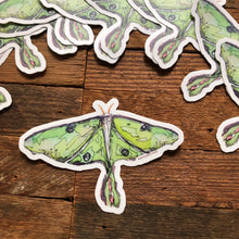 "Load image into Gallery viewer, Luna Moth 3"" vinyl decal"