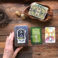 Load image into Gallery viewer, *BACK ORDER* Mini Roots and Wings Oracle Deck **Green backs for 2021