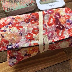 Oracle Card Bag | floral linen fox