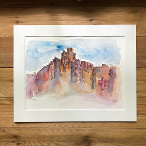 Bryce Canyon original watercolor midday sun