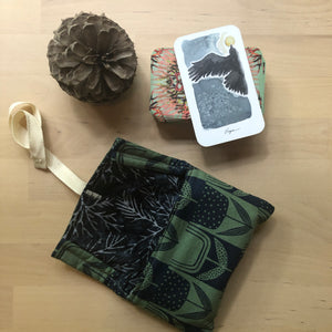 Oracle Card Bag | blue tulips