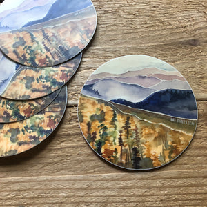 Blueridge in fall Mountain Vinyl Sticker