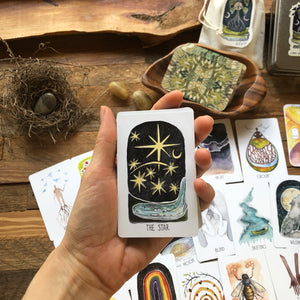 *BACK ORDER* Mini Roots and Wings Oracle Deck **Green backs for 2021