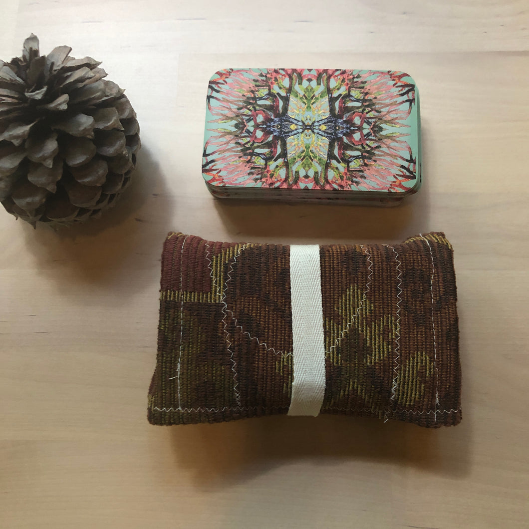 Oracle Card Pouch | mauve pattern