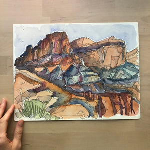 Capital Reef original watercolor
