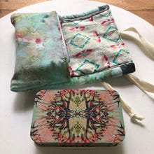 Load image into Gallery viewer, Oracle Card Bag | hand dyed blue
