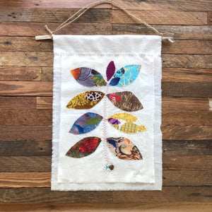 Permission to Grow multi-color | hand-stitched wallhanging