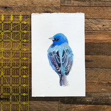 Load image into Gallery viewer, Indigo Bunting Bird Watercolor Kat Ryalls
