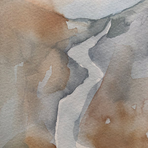 Waterfall Watercolor Ghost Strokes by Kat Ryalls