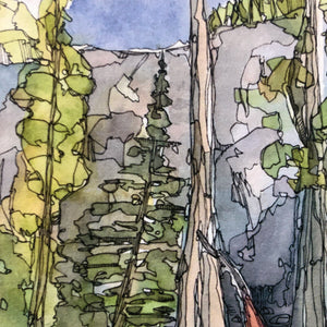 Mountain Hammock Watercolor