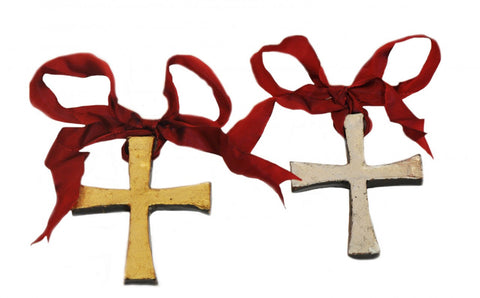 Clay Cross Ornament by Barbara Biel
